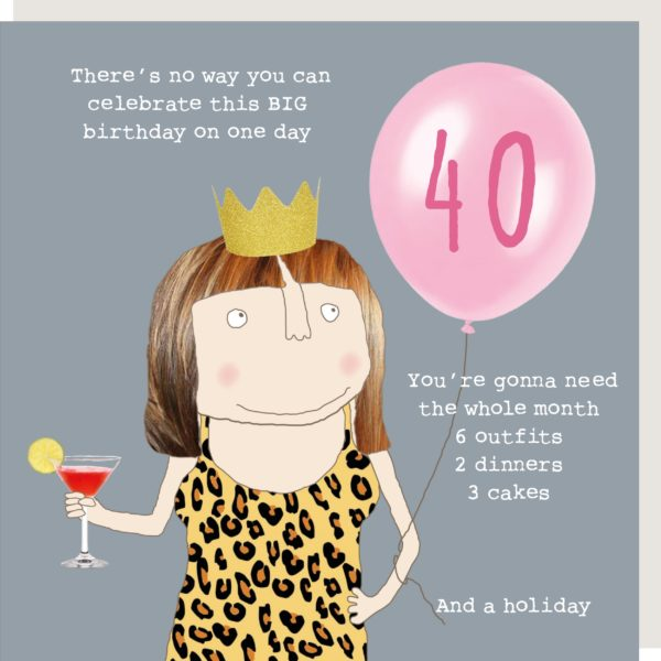 40th Birthday Multiple Celebrations Card
