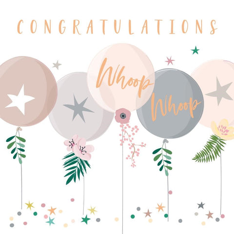 Congratulations Balloon Card