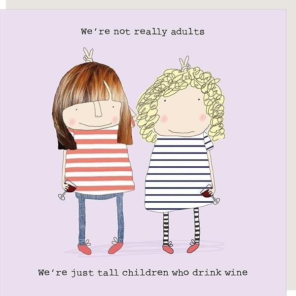 Tall Children Who Drink Wine Card