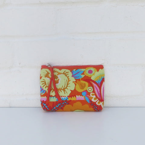 Kaffe Fassett Print Cotton Small Purse - Orange/Yellow