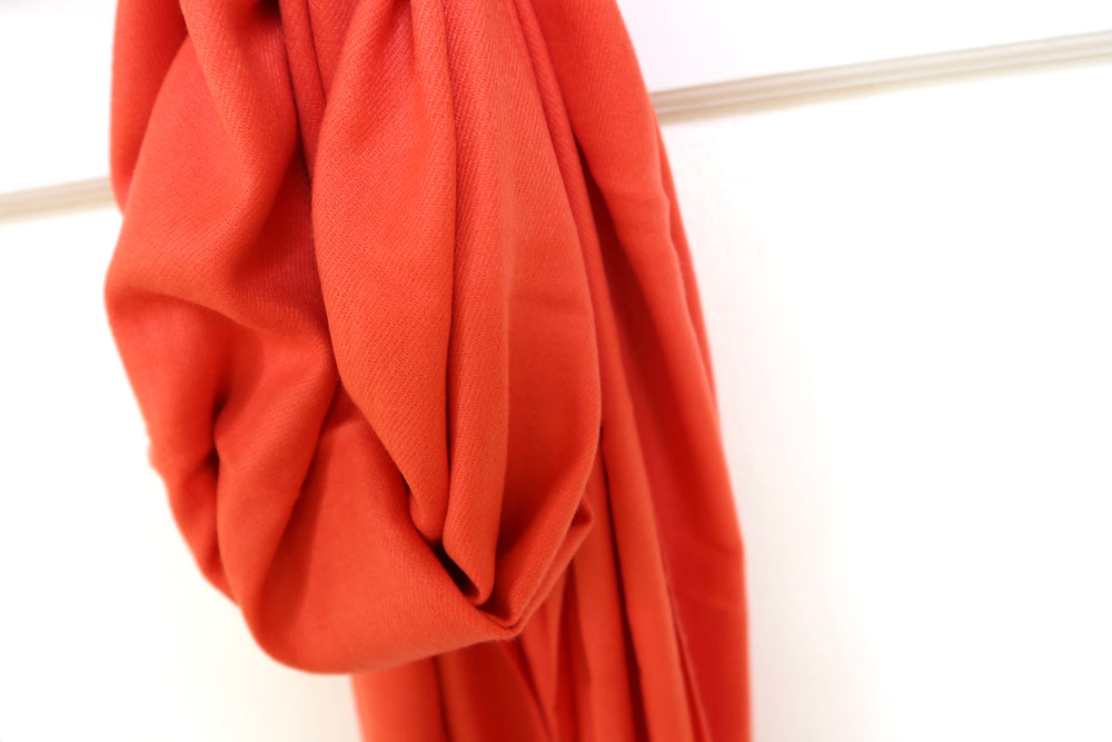 Super Soft Plain Scarf - Coral