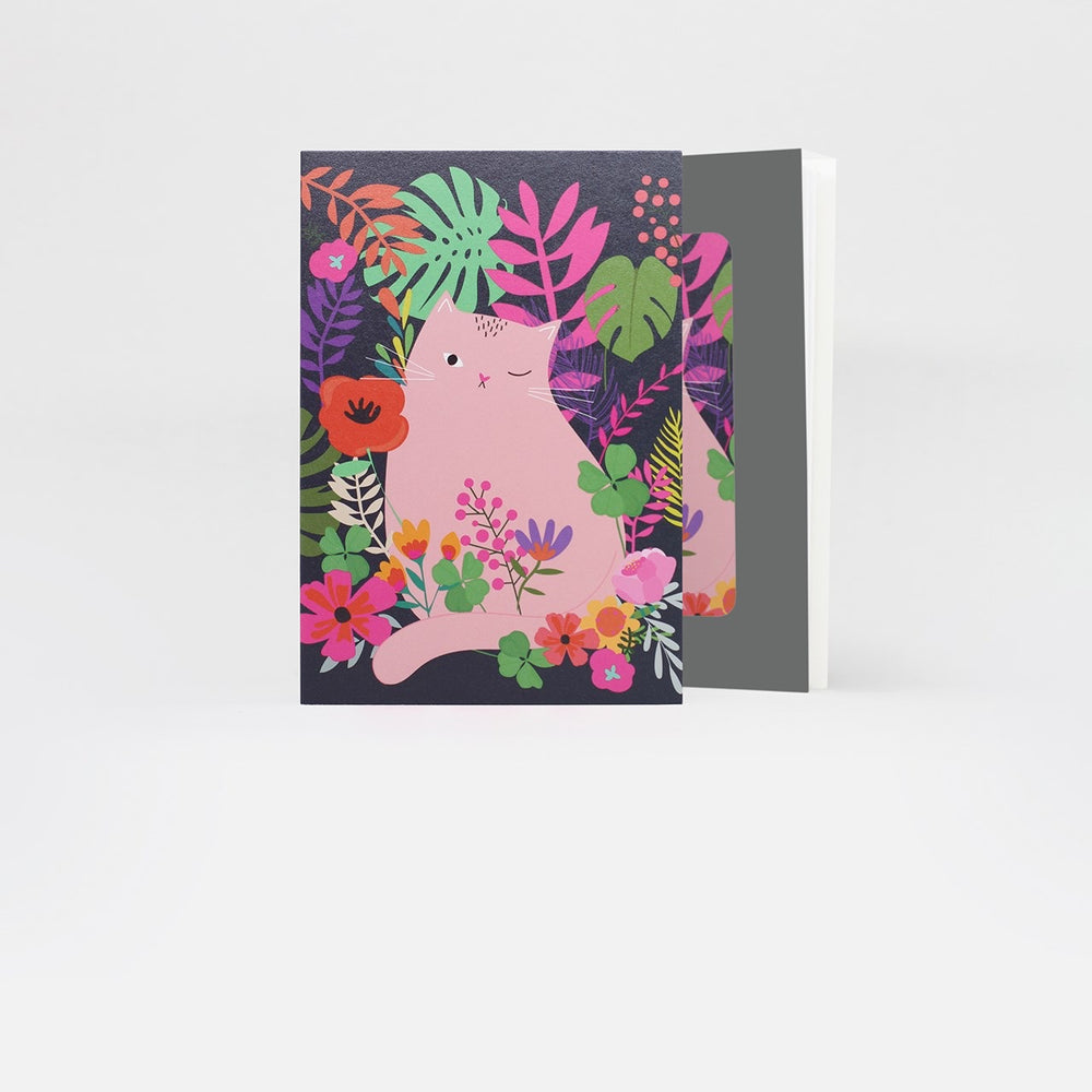 Floral Cat Petites Card Pack