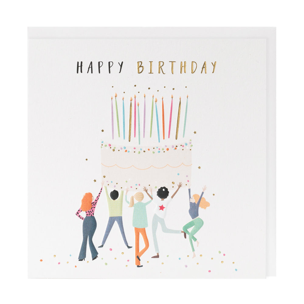 Happy Birthday Cake Happy Days Card