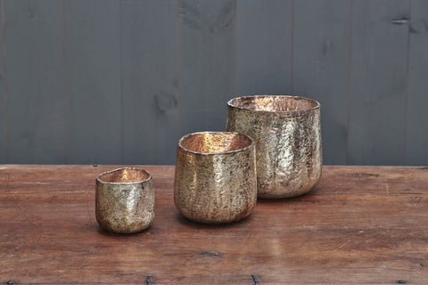 Aban Rustic T-light Holders - Gold