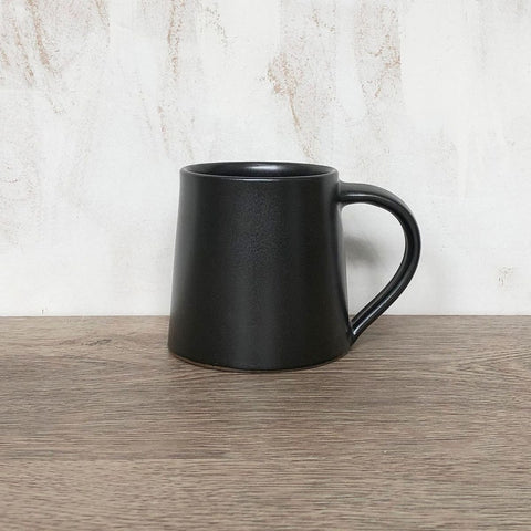 Handmade Glazed Stoneware Mug - Dark Brown