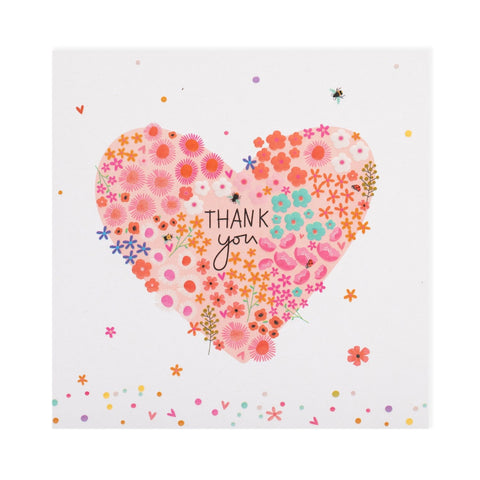 Floral Heart Thank You Electric Dreams Card