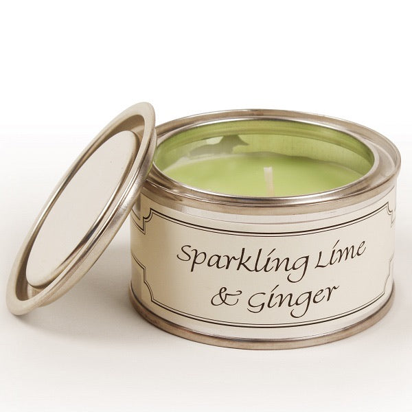 Sparkling Lime & Ginger Paint Tin Candle