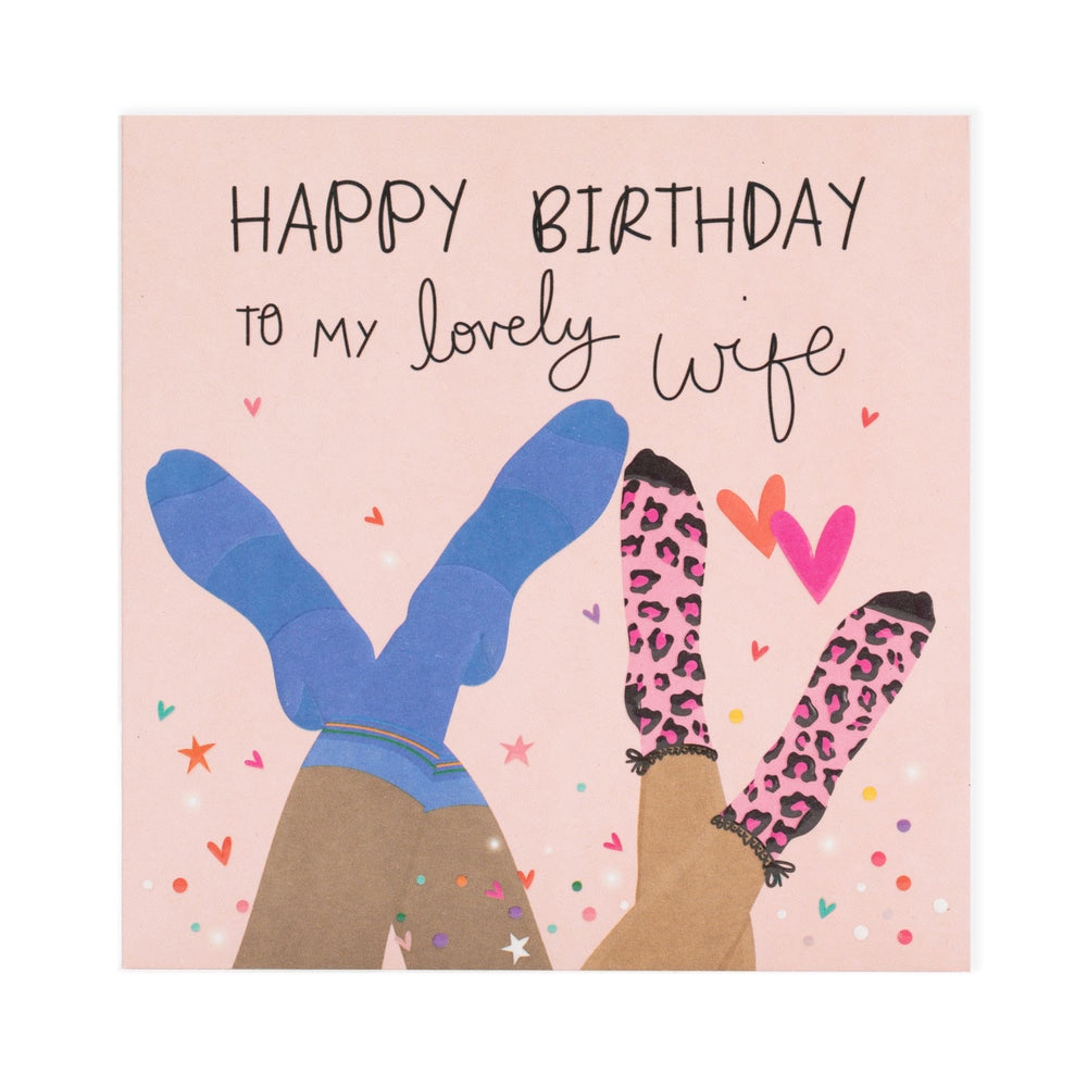 Happy Birthday Lovely Wife Electric Dreams Card