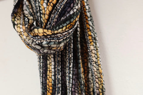 Masala Woven Scarf - Charcoal