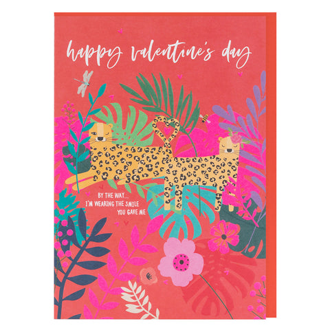 Wearing The Smile You Gave Valentines Wild Thing Card