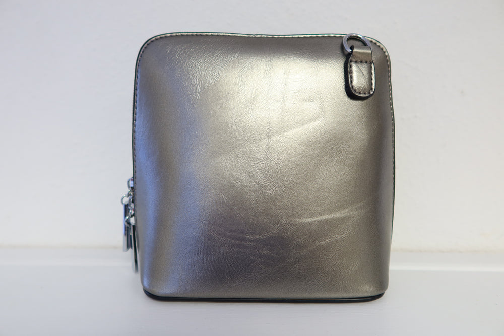 Small Cross Body Bag - Pewter