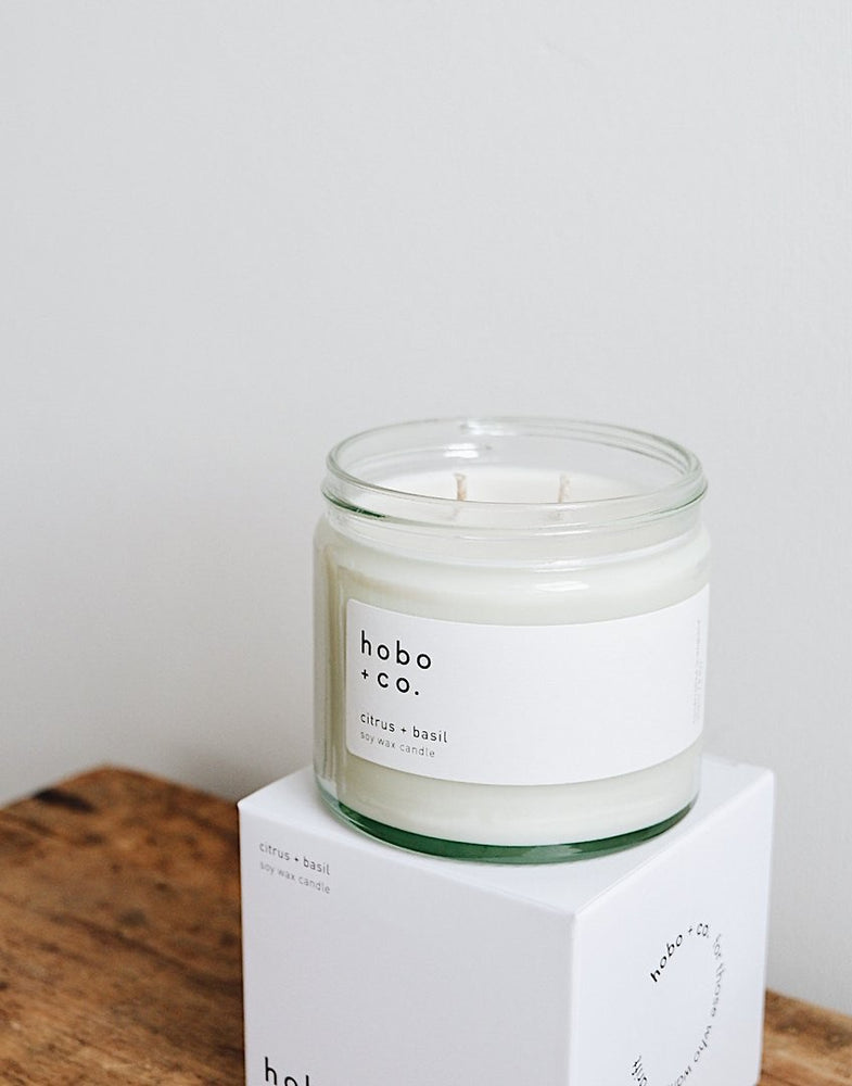Citrus & Basil Large Soy Candle
