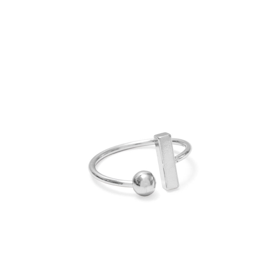 Ball & Bar Ring - Silver