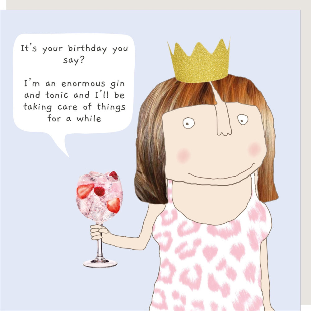 Enormous Gin Taking Care Of Things Card