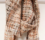 Chunky Tweed Scarf - Cloud