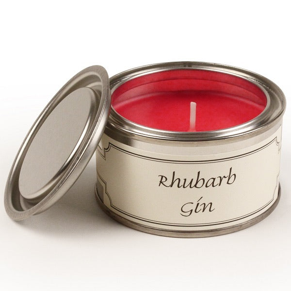 Rhubarb Gin Paint Tin Candle