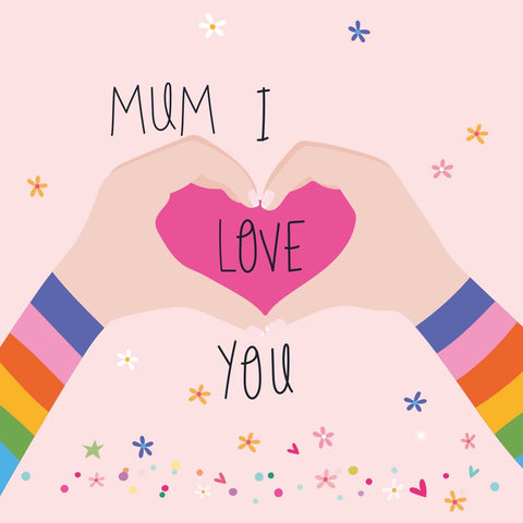 Mum I Love You Mother's Day Electric Dreams Card