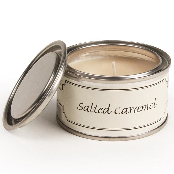 Salted Caramel Paint Tin Candle