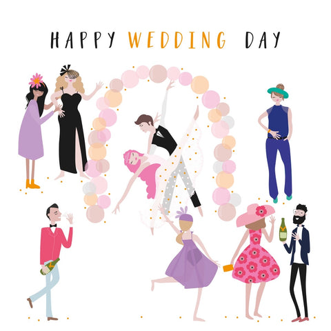 Happy Wedding Day Happy Days Card