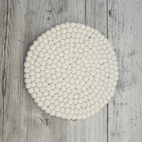 Handmade Eco Felt Place Mat - Cream