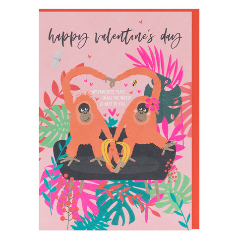 Favourite Place Valentines Wild Thing Card