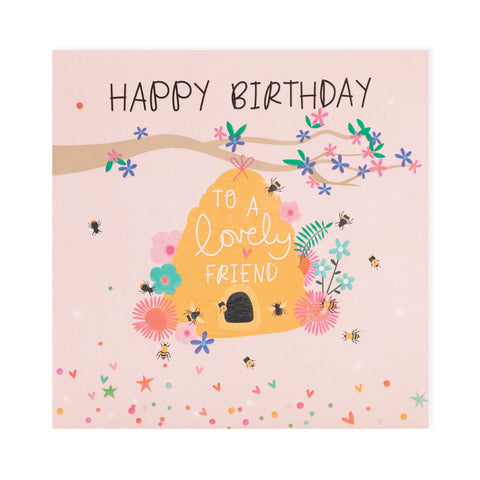 Happy Birthday Lovely Friend Electric Dreams Card