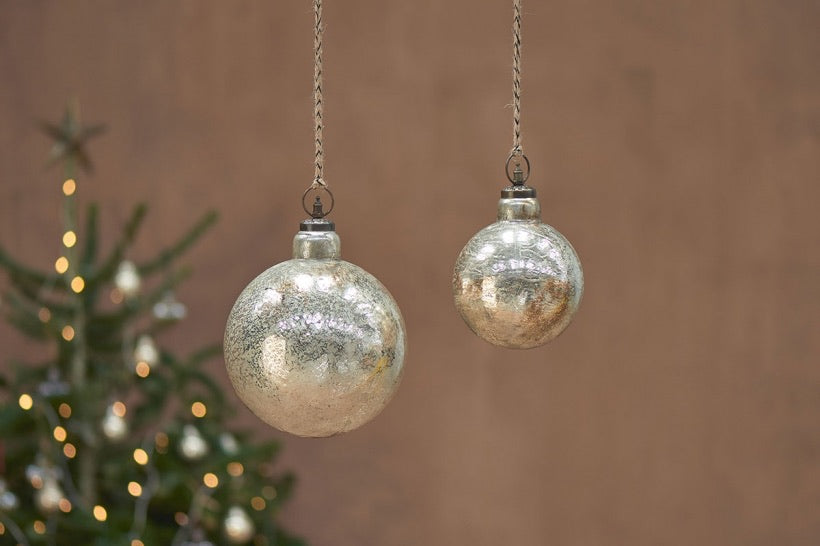 Ometti Giant Round Bauble - Rustic Gold