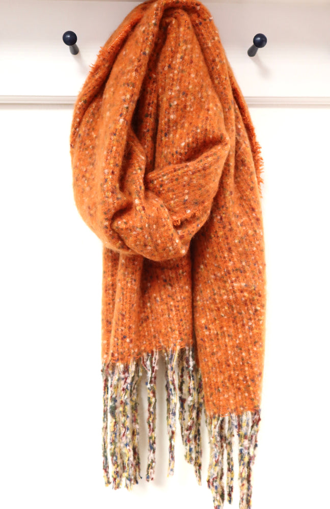 Super Soft Flecked Scarf - Orange