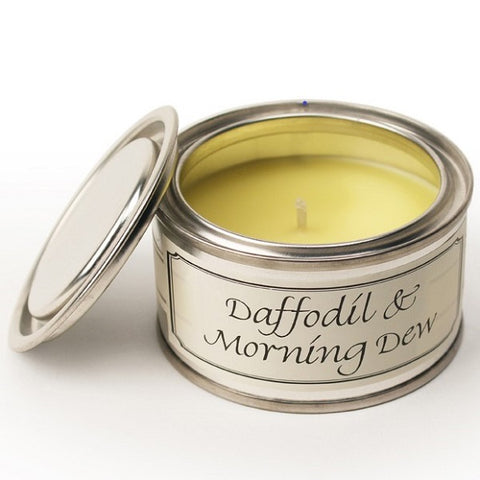 Daffodil & Morning Dew Paint Tin Candle