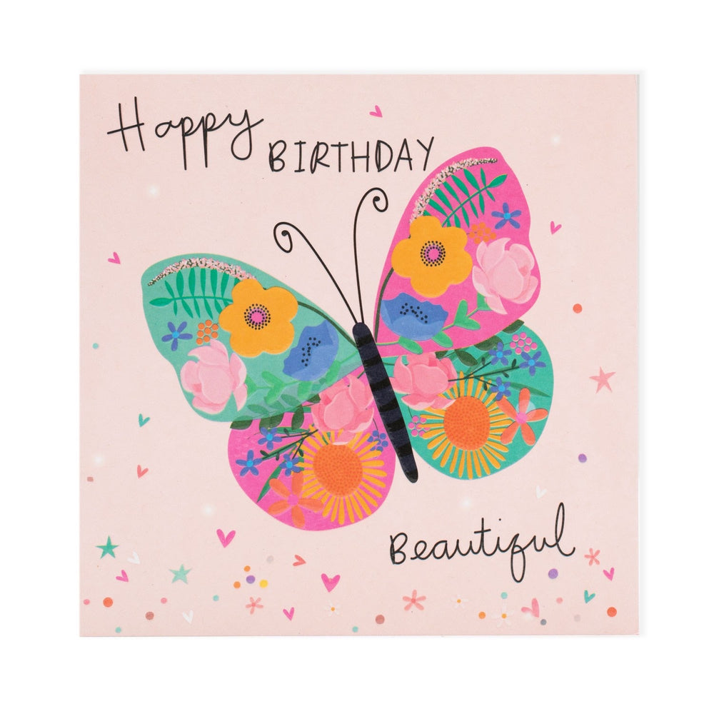 Happy Birthday Beautiful Electric Dreams Card