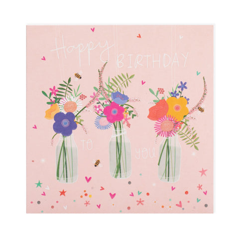 Birthday Flowers Electric Dreams Card