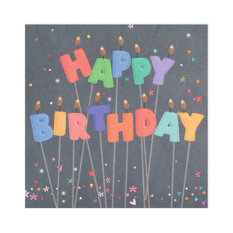 Happy Birthday Candles Electric Dreams Card