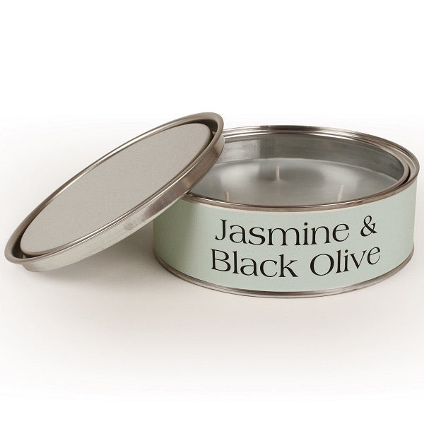 Jasmine & Black Olive Triple Wick Paint Tin Candle