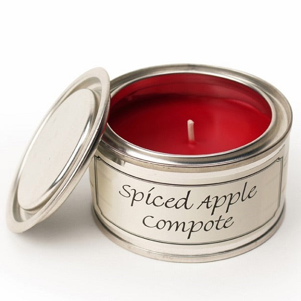 Spiced Apple Compote Paint Tin Candle