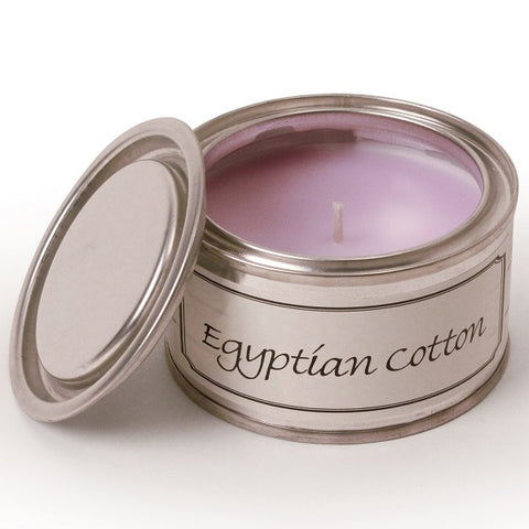 Egyptian Cotton Paint Tin Candle