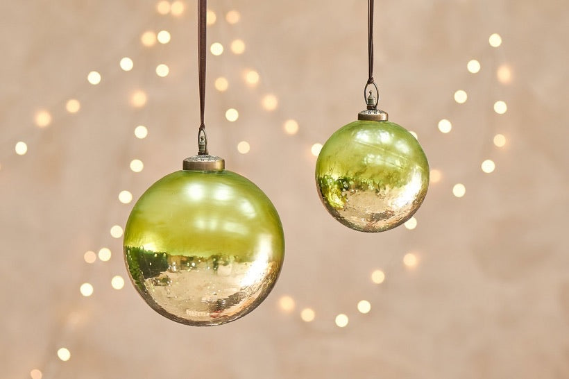 Nari Giant Bauble - Antiqued Green