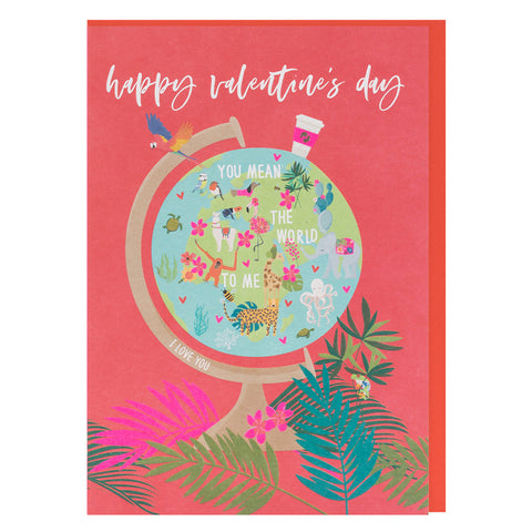 You Mean The World To Me Valentines Wild Thing Card