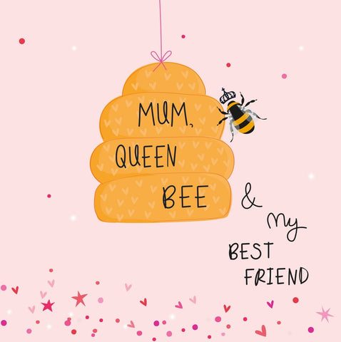 Queen Bee Mother's Day Electric Dreams Card