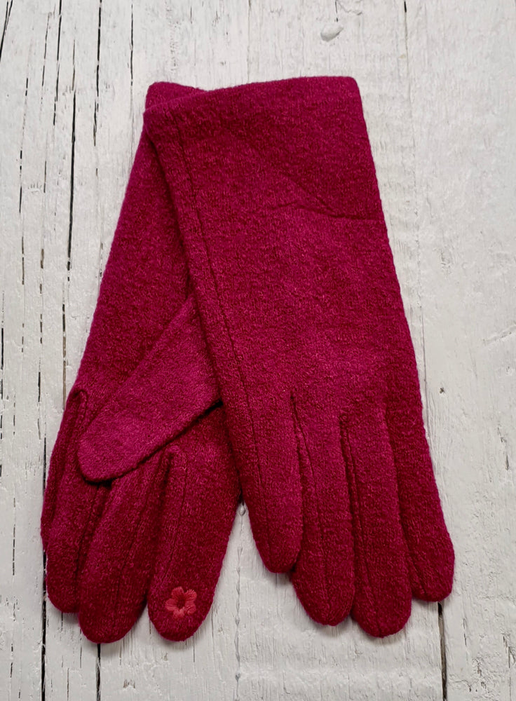 Textured Cosy Gloves - Pink