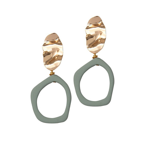 Alexa Earrings - Fern