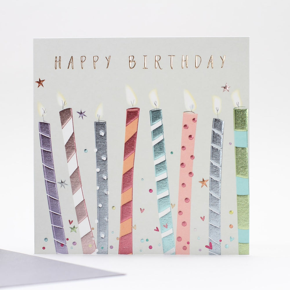 Birthday Candles Multicoloured Card