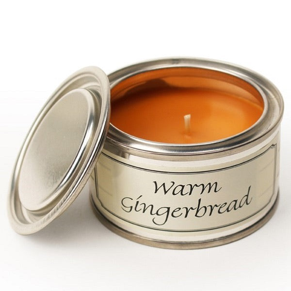 Warm Gingerbread Paint Tin Candle