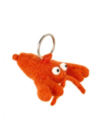 Alfie The Lobster Felt Keyring