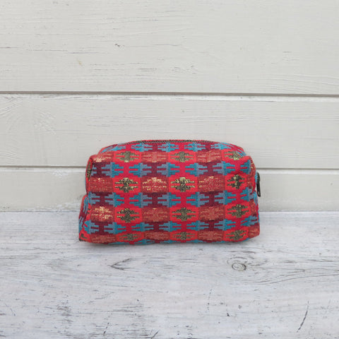 Naram Red Handwoven Cosmetic Bag