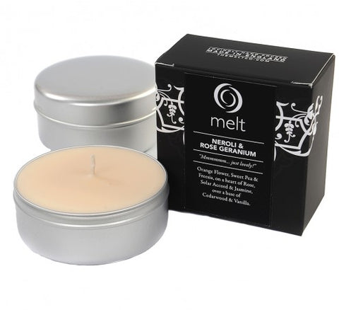 'Neroli & Rose Geranium' Scented Candles