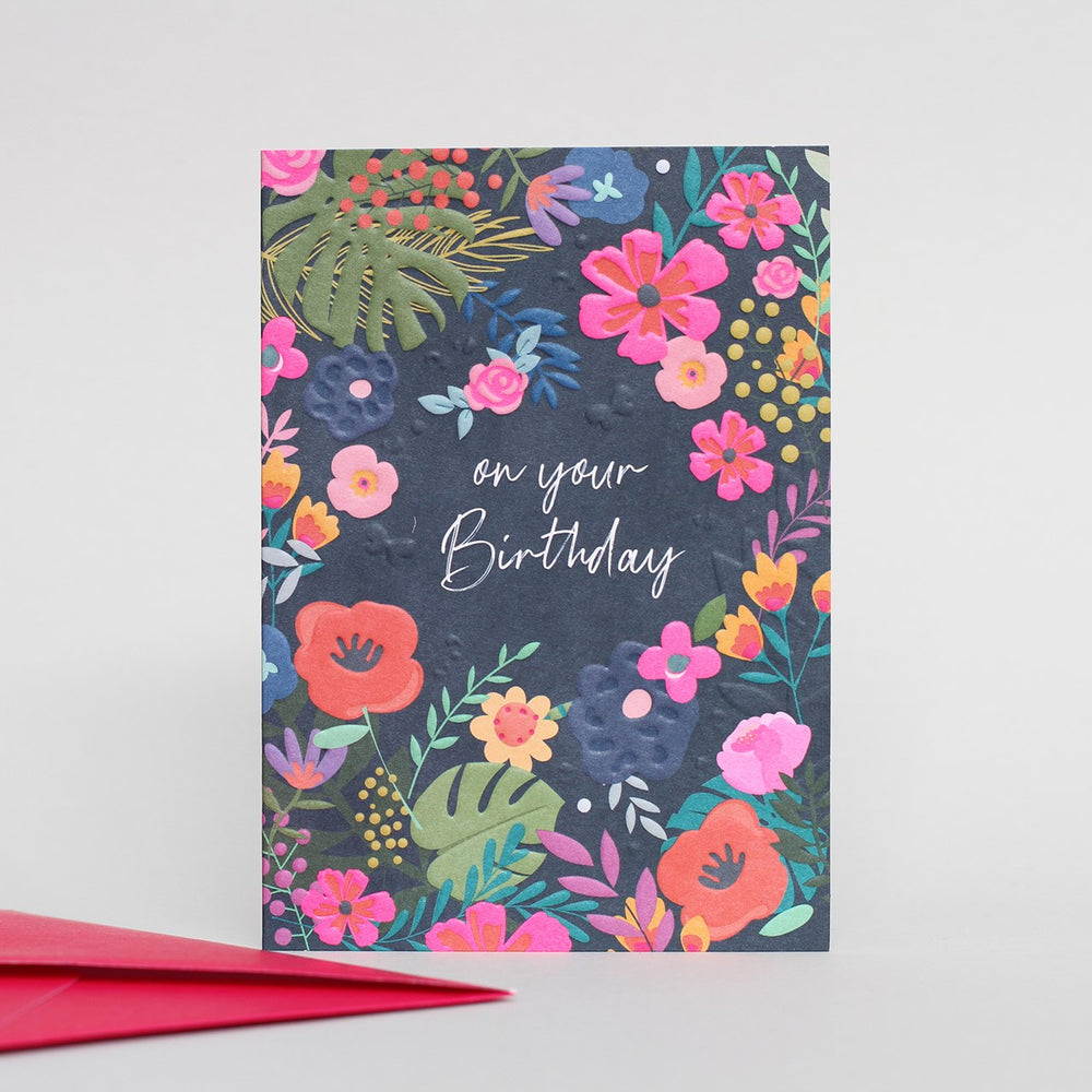 Birthday Floral Wild Thing Card