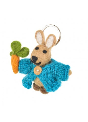 Helen The Cardi Rabbit Felt Keyring