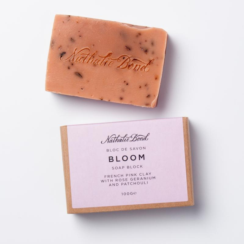 Bloom Rose Geranium & Patchouli French Pink Clay Soap Bar