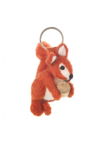 Edward The Squirrel Felt Keyring