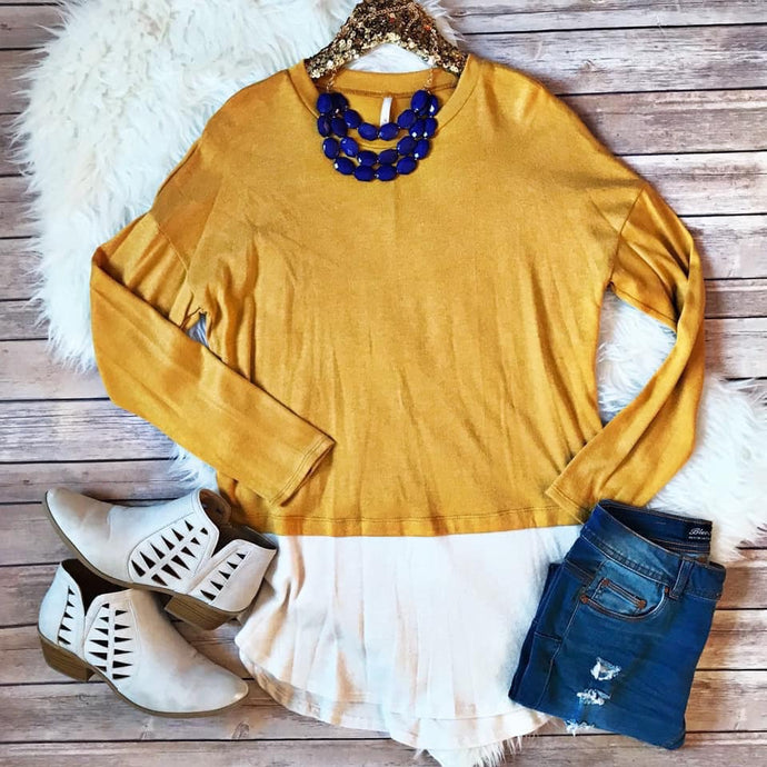 Gold Two-Tone Sweater
